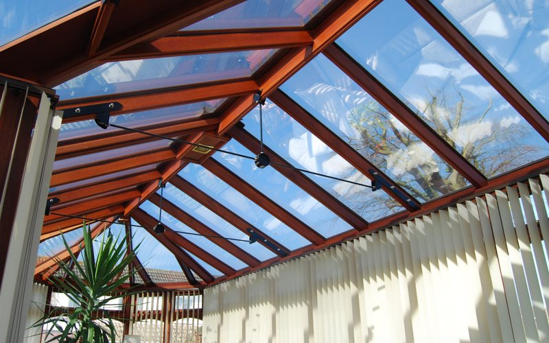 New roof on old conservatory